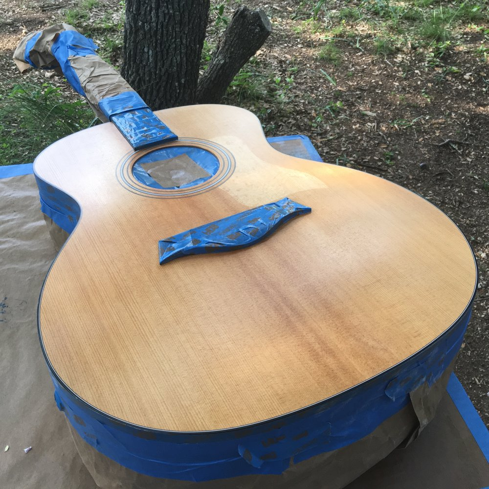 2007 Taylor 114ce Top Refinish