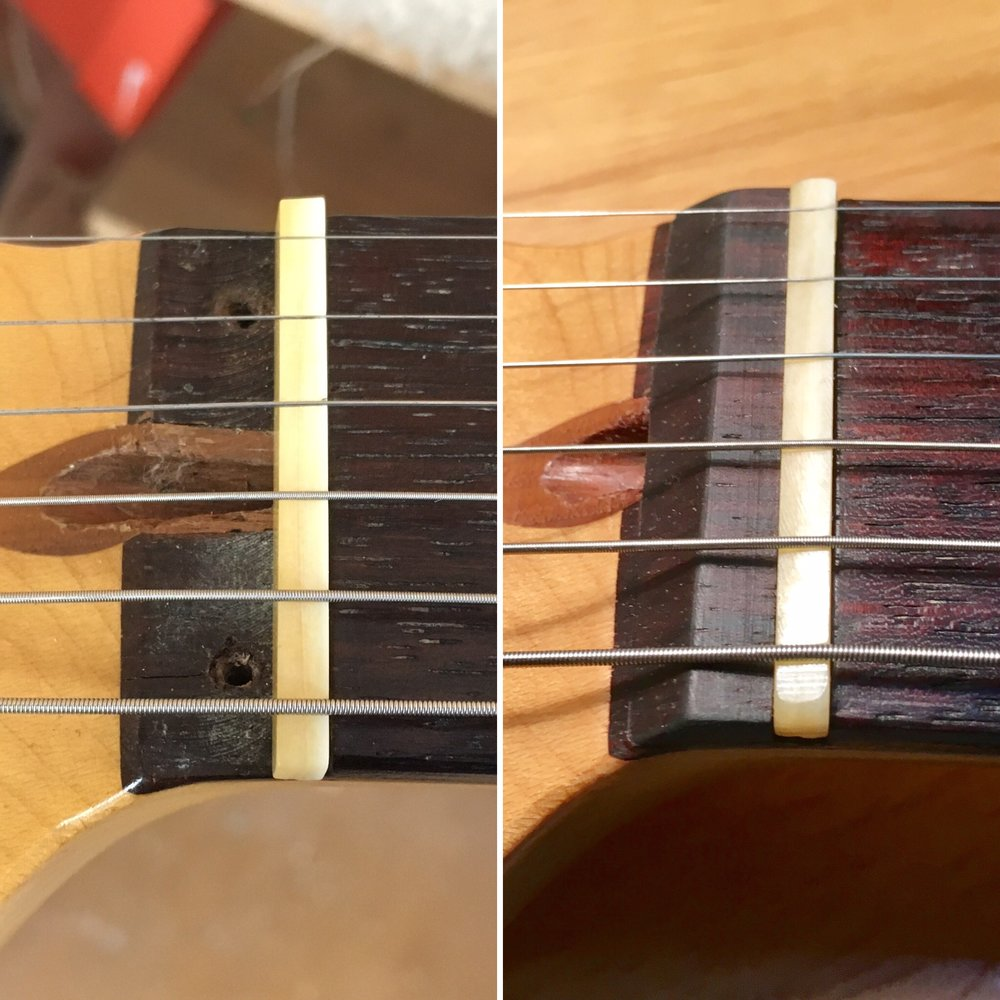 Stratocaster non-locking nut conversion