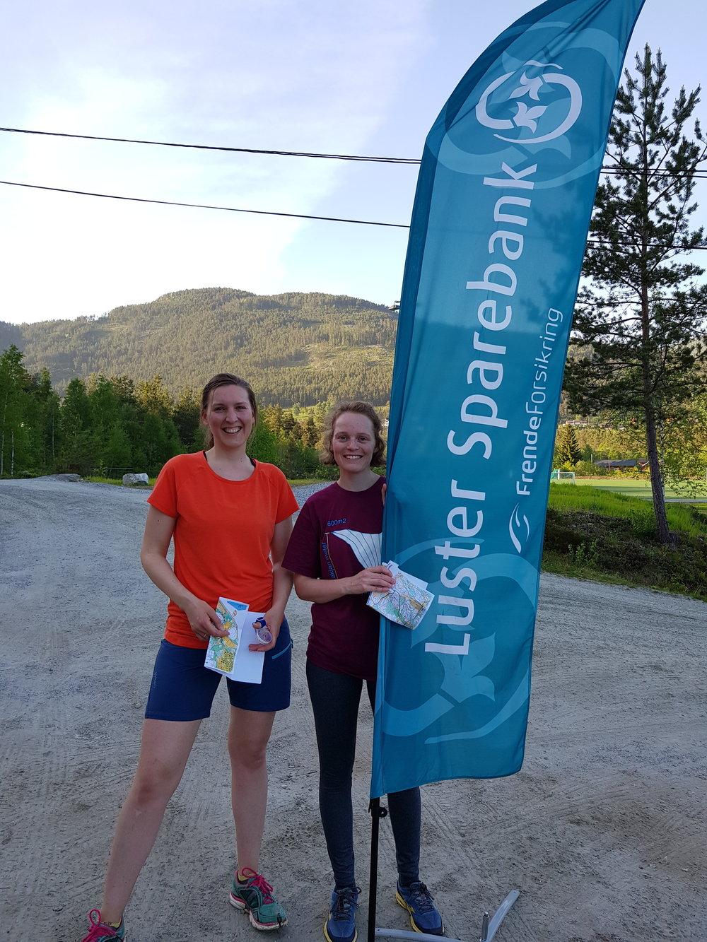 To av arrangørane sprang også eiga løype etter at deltakarane hadde reist heim