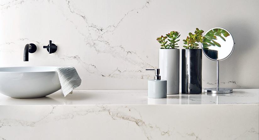 Engineered Stone   Perfect Stone Alternative to White Marble Kitchens