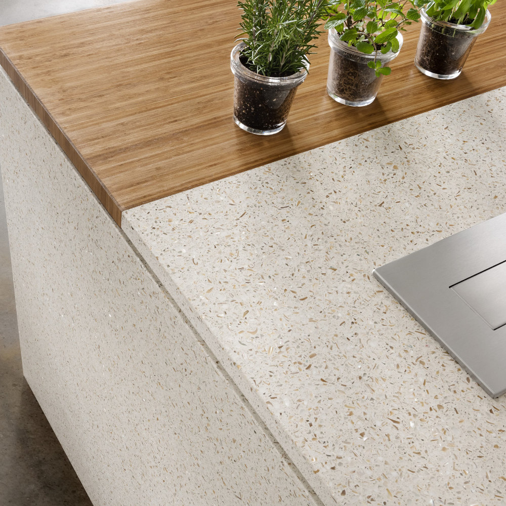 Recycle glass icestone countertops stone surfaces