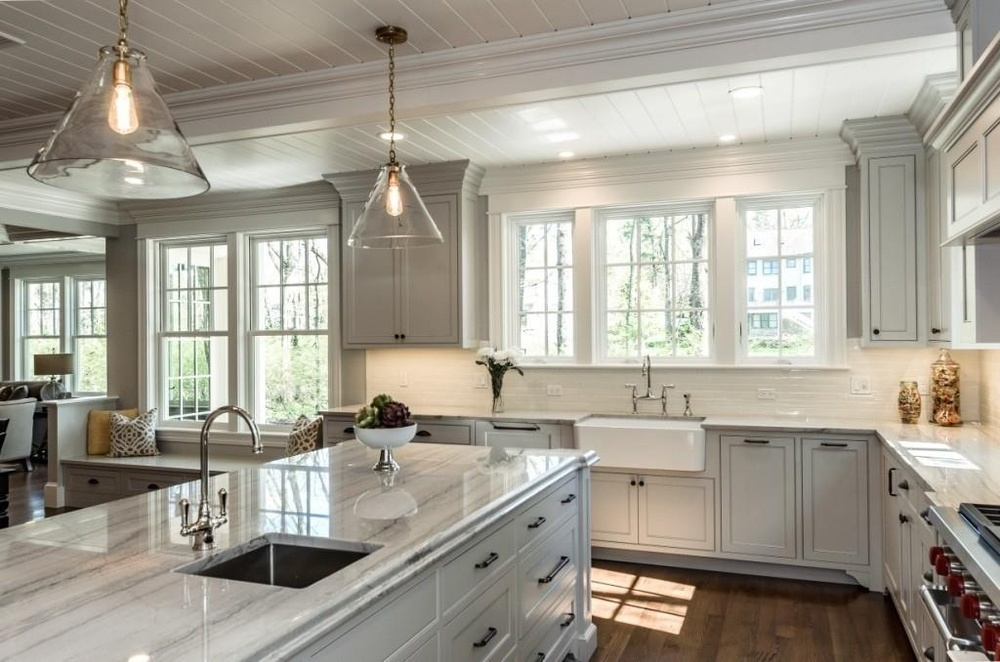 Bon We Were Happy To Provide The Finishing Touch  White Macaubas Quartzite  Countertops.