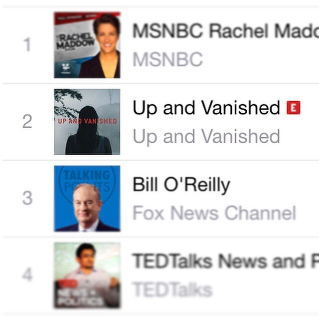 Wow... What an awesome response from everyone. My Podcast @upandvanished is currently number 2 on iTunes. If you haven't already, please click the link in my bio and take a listen 👍🏻 #upandvanished #taragrinstead #podcast