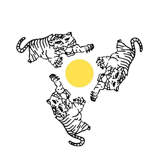 """""""Prega-Sol"""" (Tiger with Sun) Group exhibition V9 collective and gallery from Warsawa, Poland. - Opening tomorrow Friday, 17 November 2017 7.30 pm  With performance list by Kremun, Kevin Murf, Golemtek.: - More than 70 silkscreen artwork hang on the wall. - Mereka membuat live sablon dg desain diatas. Dua warna. UBawa kaos warna cerahmu. Donasi 15K - Live sablon juga menjadi salah satu kegiatan V9 untuk menyebarkan karyanya dan cara mereka bertahan dalam menjalankan komunitas dan gallery dindingnya. - #survivegarage #V9 #screenprinting. #exhibition #collective #warsawa #poland #yogyakarta"""