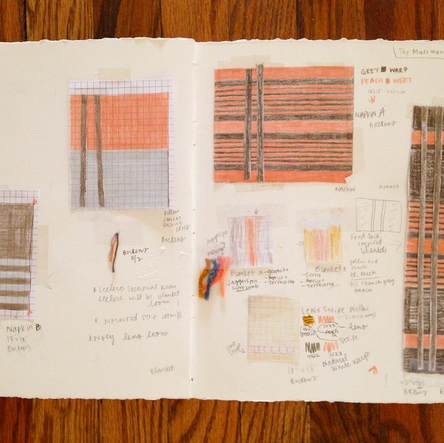 Sketchbook: A sampling of sketches and drawings of final designs for the collection