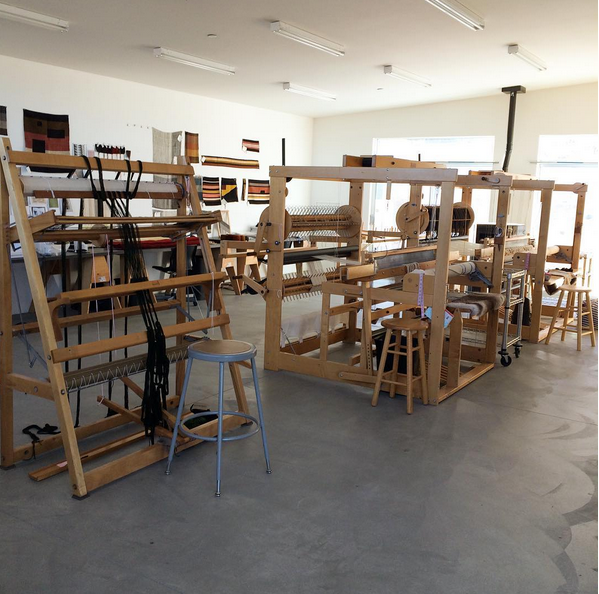 Morning in the weaving studio at A-Z West