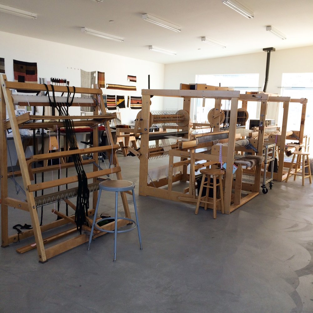 The weaving studio of Andrea Zittel at A-Z West in Joshua Tree, CA.