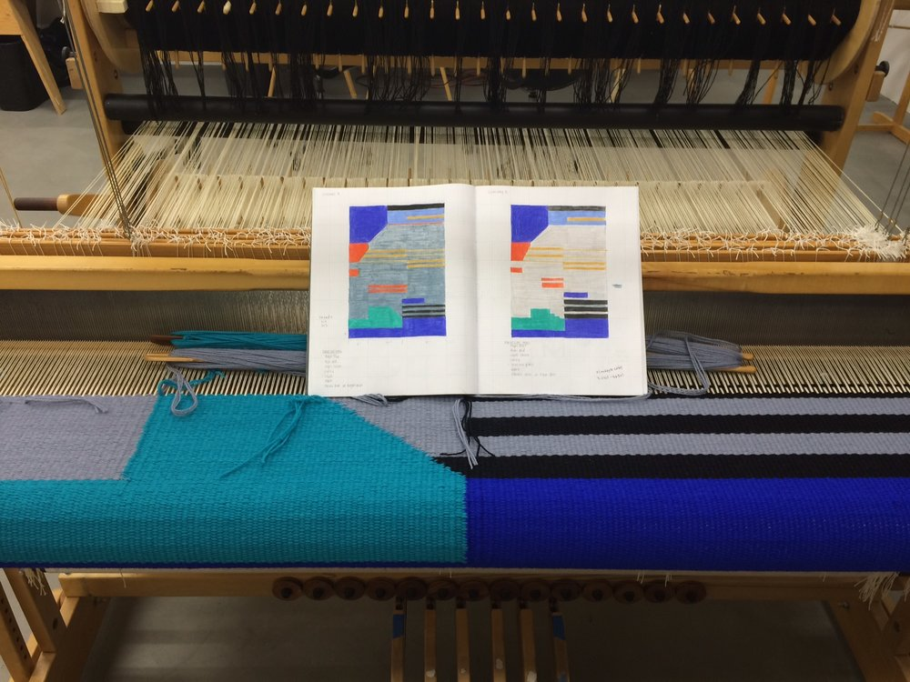 My  weaving process ; from sketch to loom.