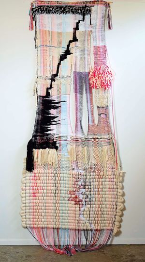 Terri Friedman's gorgeous Yarn Paintings on view through December at The Berkeley Art Museum.