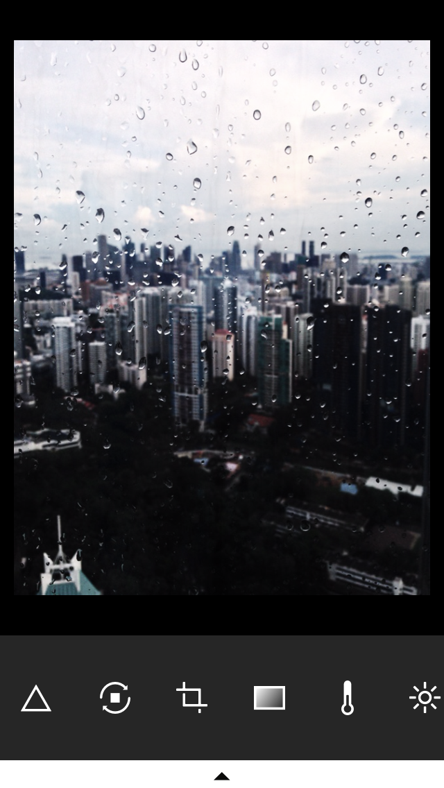 VSCO Cam:  Basic image-control features and tools