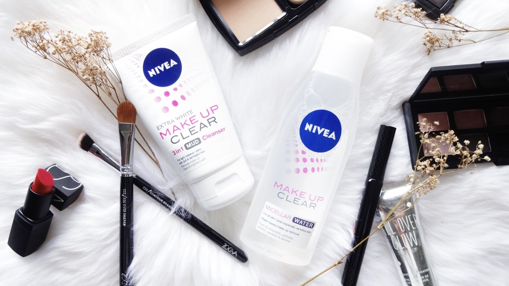 NIVEA Make Up Clear 3-in-1 Mud Cleanser and NIVEA Make Up Clear Micellar Water
