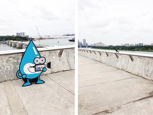 Water Wally Mascot Print at Marina Barrage, Singapore