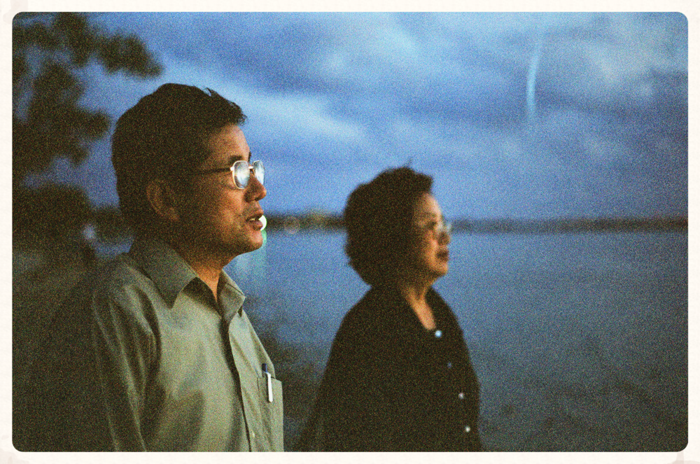 K.M. Suh with wife Hae Seok at sunset in Key Biscayne, Florida | Photo by Hanul Bahm