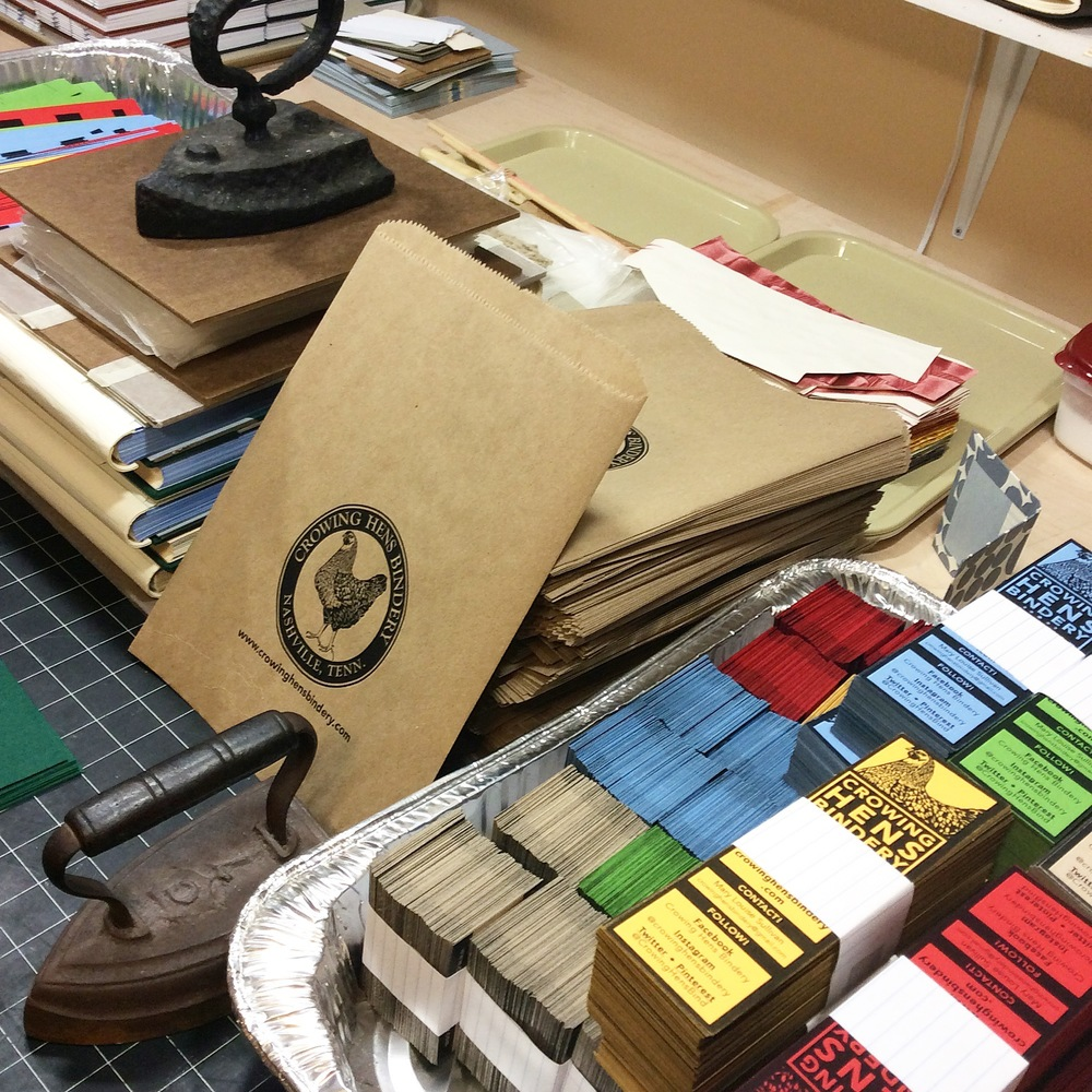 Business cards, booksmarks, and books- all in preparation for the Porter Flea Summer Market.