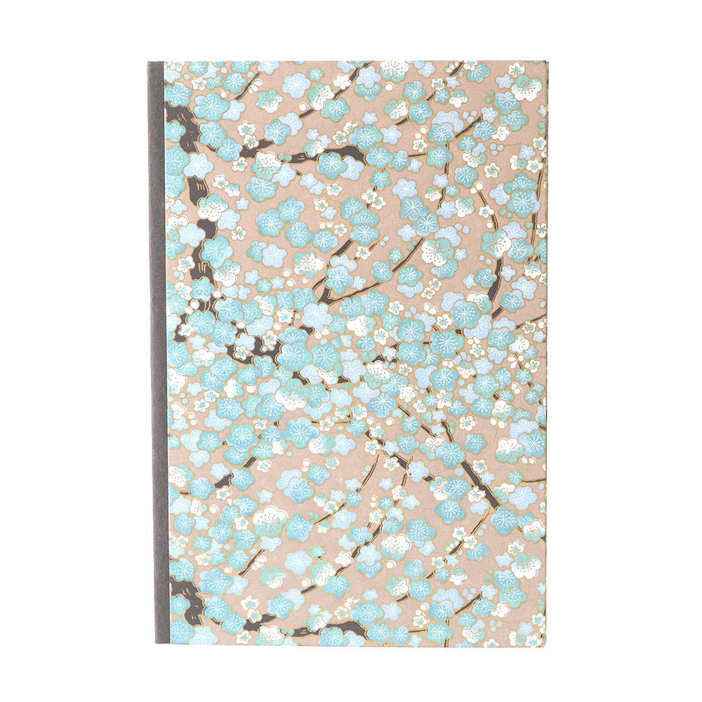 Blue Cherry Blossom Journal
