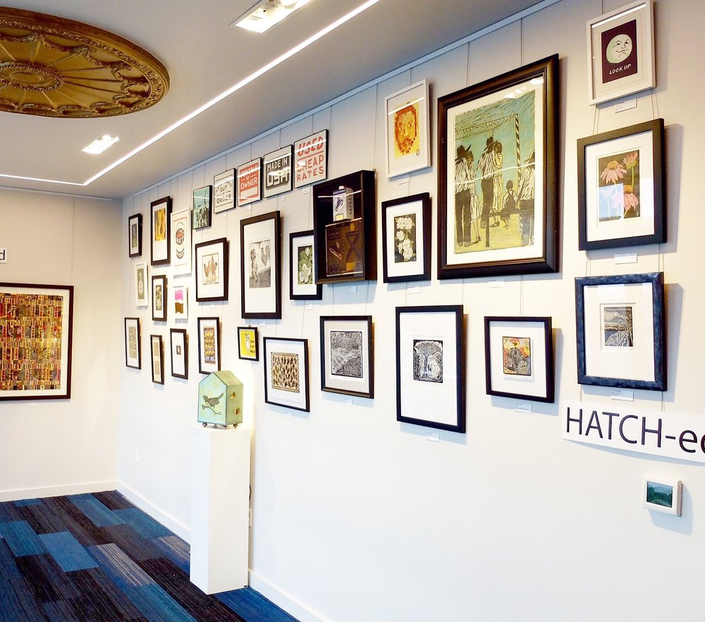 HATCH-ed is hanging on the second floor of the Belcourt Theatre in Hillsboro Village, featuring the artwork of four former Hatch Show Print designers and printmakers.