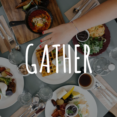 Gather. - Grab 3 other people and pick a regular, weekly gathering time for coffee, breakfast, lunch, or any other time that allows you to meet for 60 - 90 minutes.