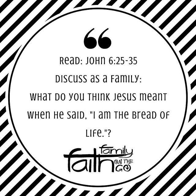 Read and discuss as a family! Check out this weeks #familyfaithonthego Take Home sheet or email to check out the full resource and a recipe to make your own bread in a bag! #nashvillagekids