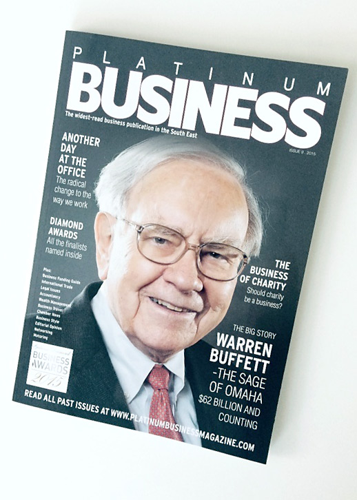 platinum business magazine cover