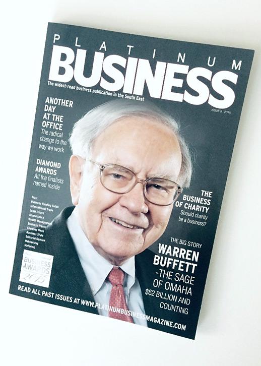 platinum business magazine cover