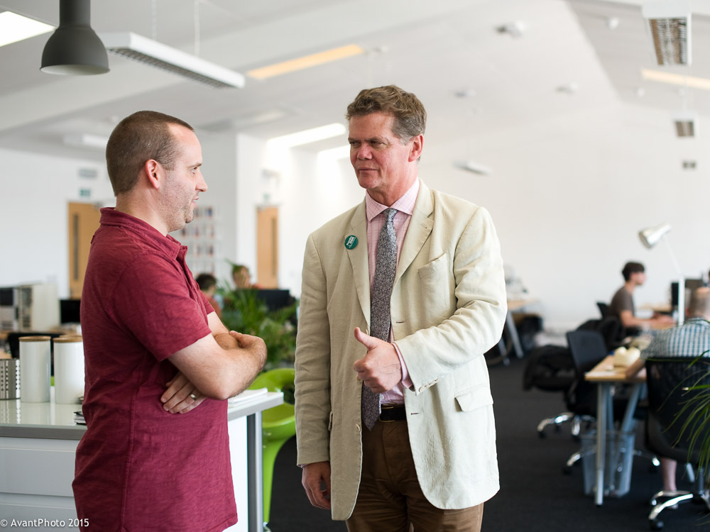 Stephen lloyd with Cohub Co-Founder Stuart Lambert