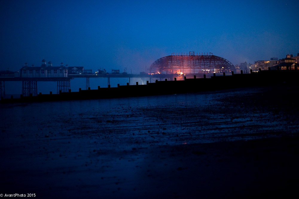 Eastbourne Pier fire 30th July 2014