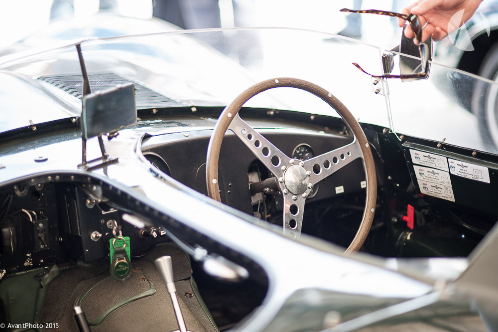 Cockpit of 1956 Jaguar D - Type Long nose