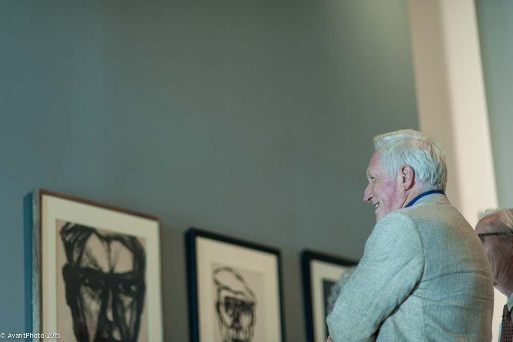 David Dimbleby views William Gear Portraits at Towner Eastbourne