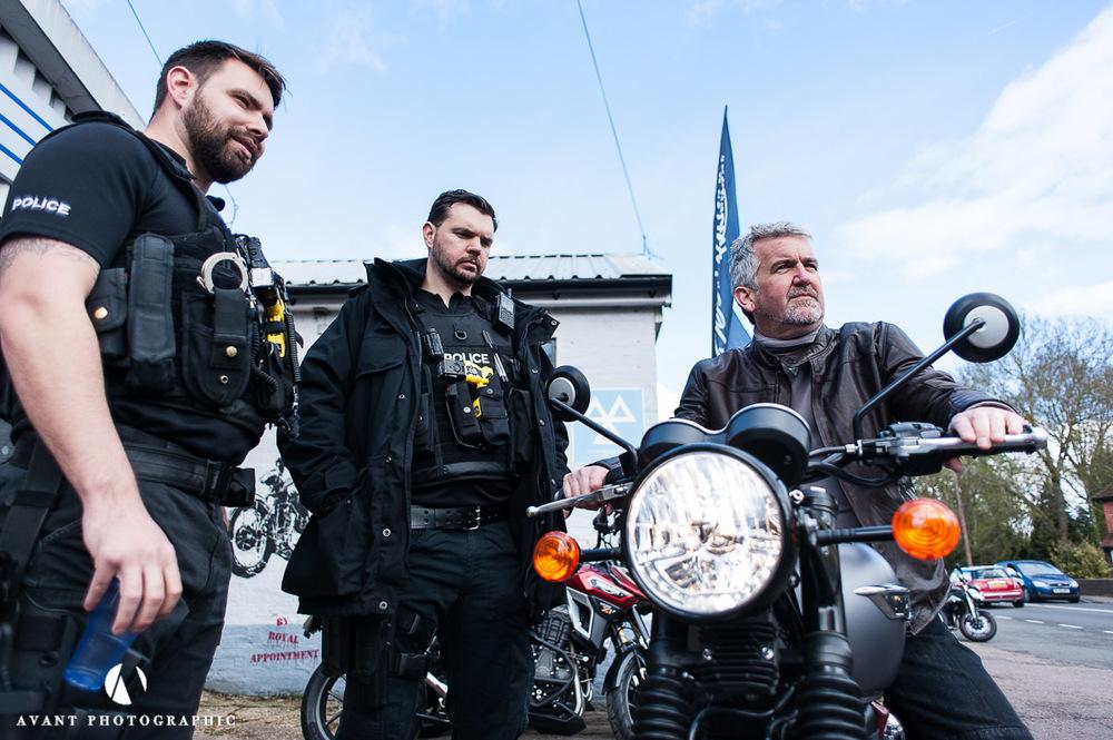 Triumph and police