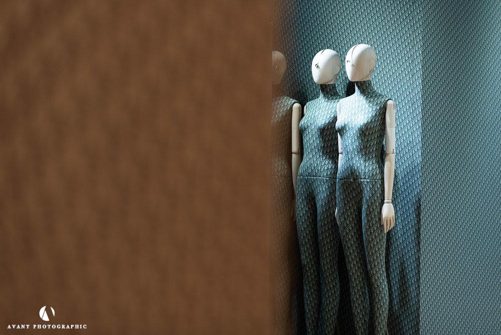 Harrods Coloured bespoke Dior Mannequins