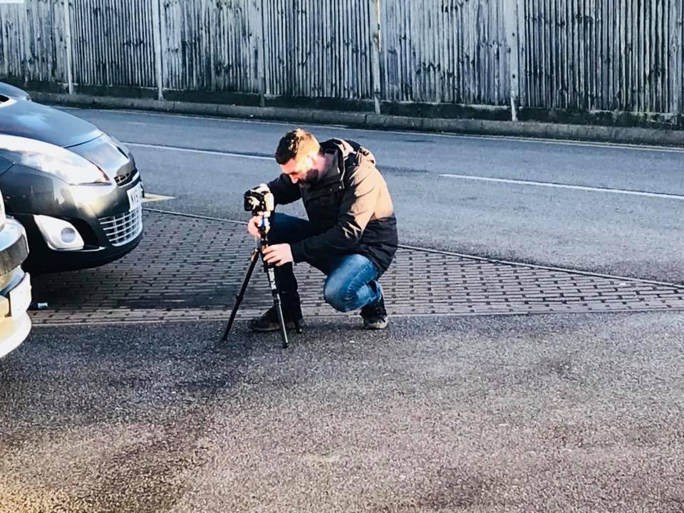 Phil - shooting at Lushington Motors