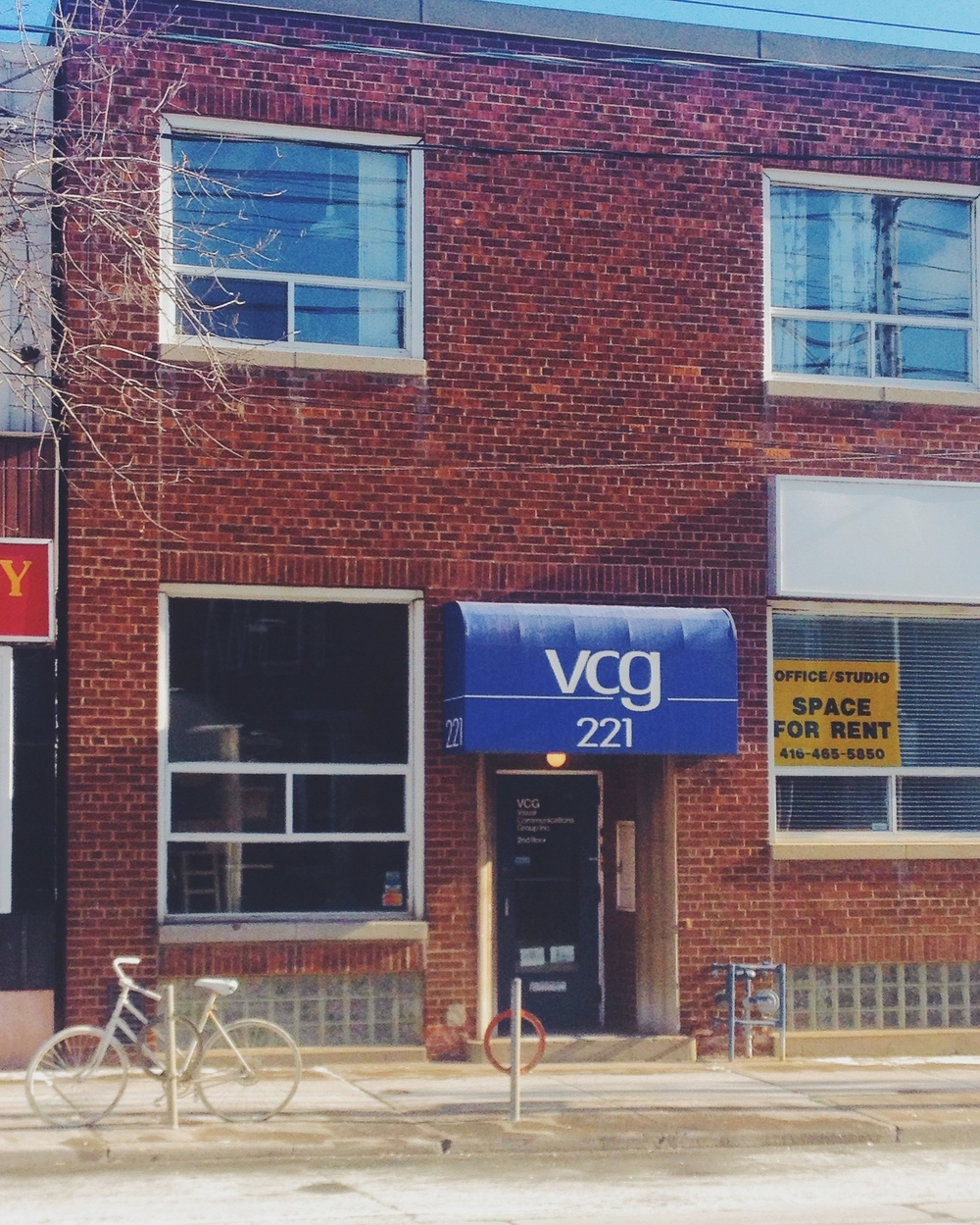 My office is in the VCG building at 221 Broadview Avenue in Toronto