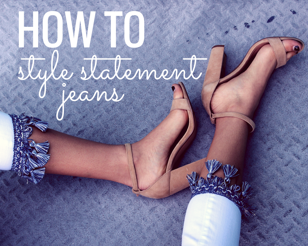 how to style statement denim