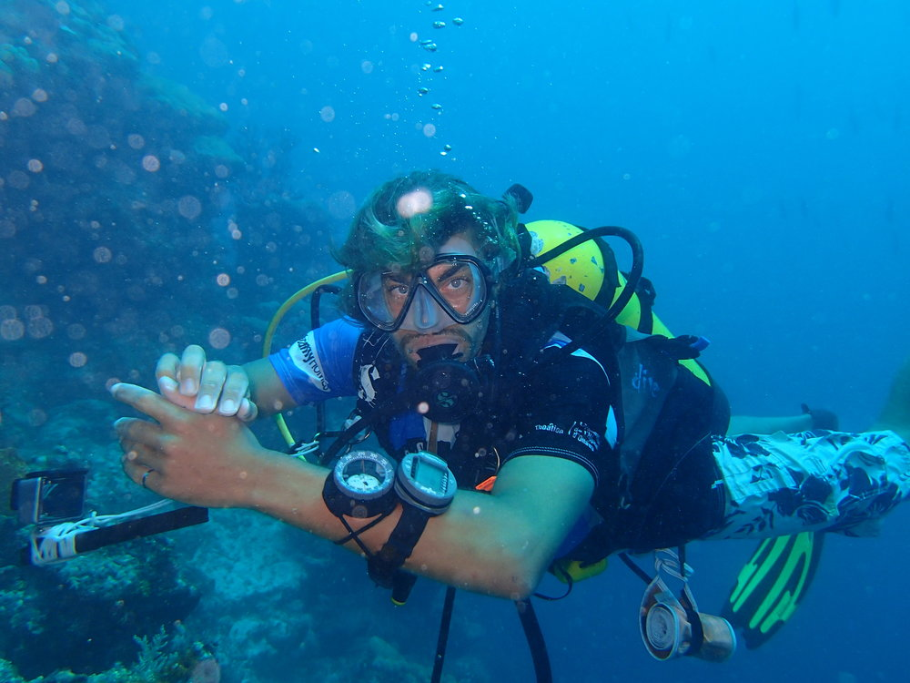 SCUBA diving on the island of Pohnpei, Micronesia.