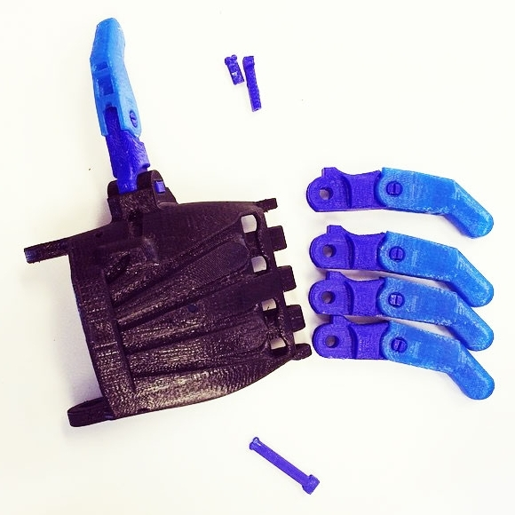 First attempt at a 3D printed hand for e-NABLE the Future