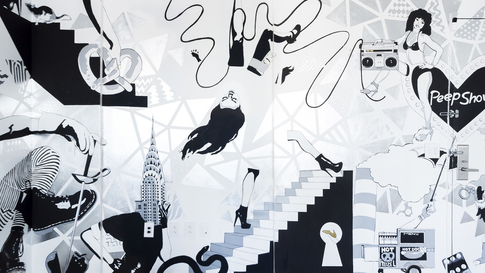 Signature mural for W Hotel's Time Square penthouse
