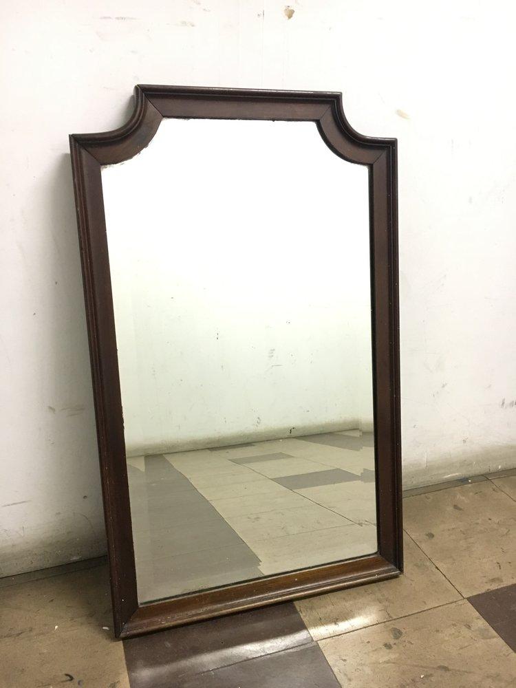 Antique Mahogany Wall Mirror White Arrow