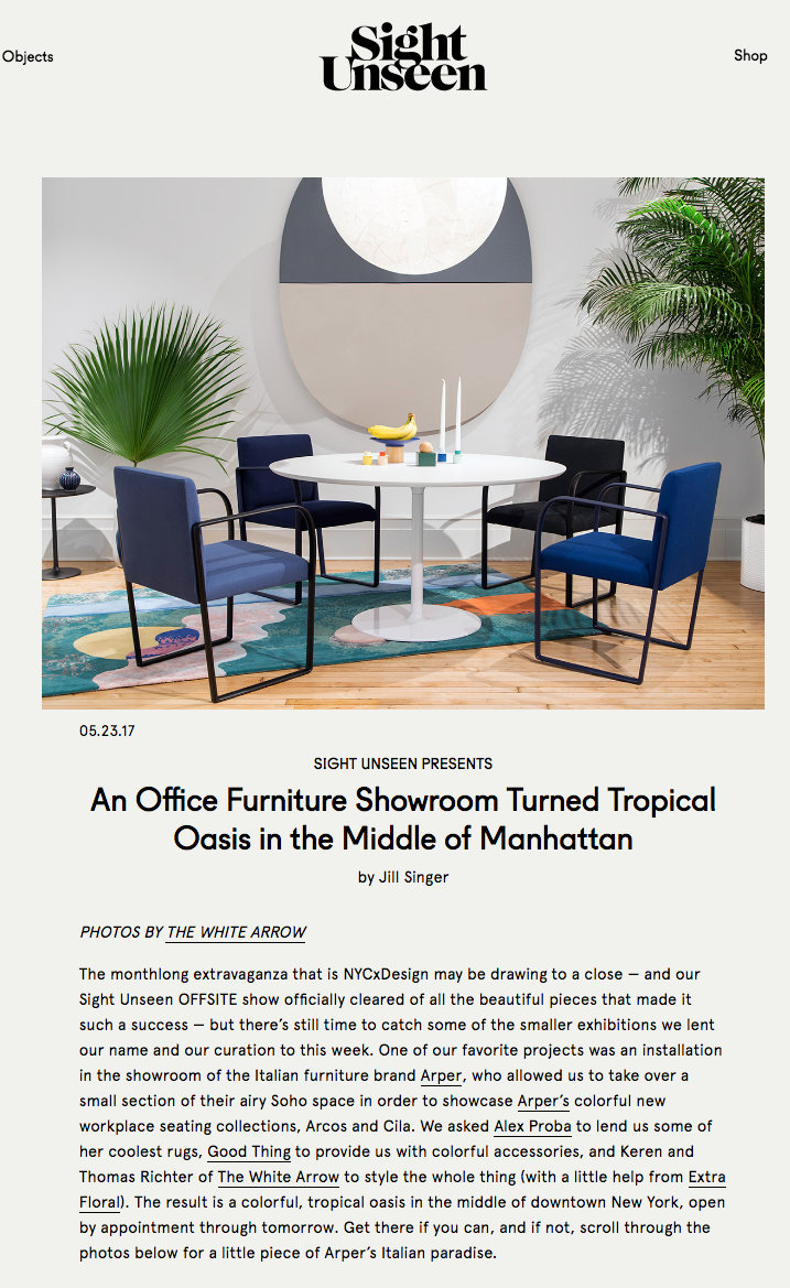 arrow office furniture. Sight Unseen: An Office Furniture Showroom Turned Tropical Oasis In The Middle Of Manhattan Arrow I