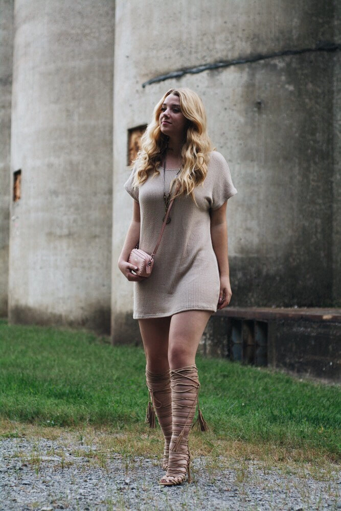 short-tan-dress-with-tan-laceup