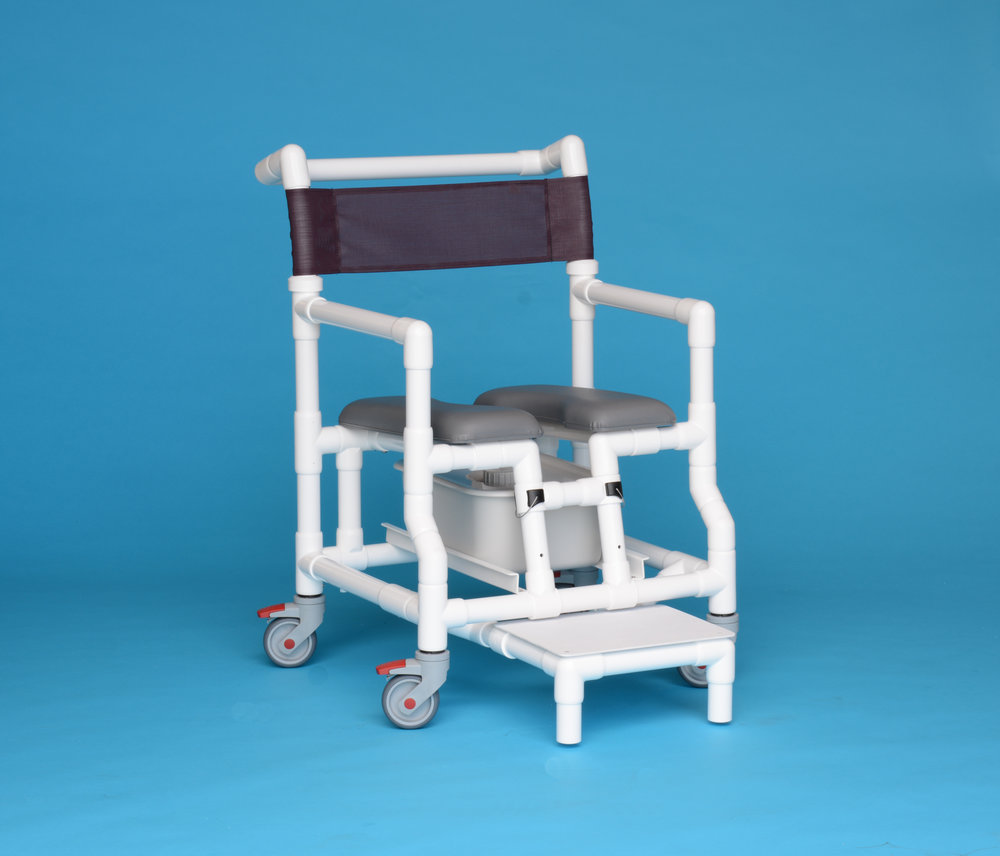 Econo Shower Chair – with Potty Pail (Foot Rest Optional)