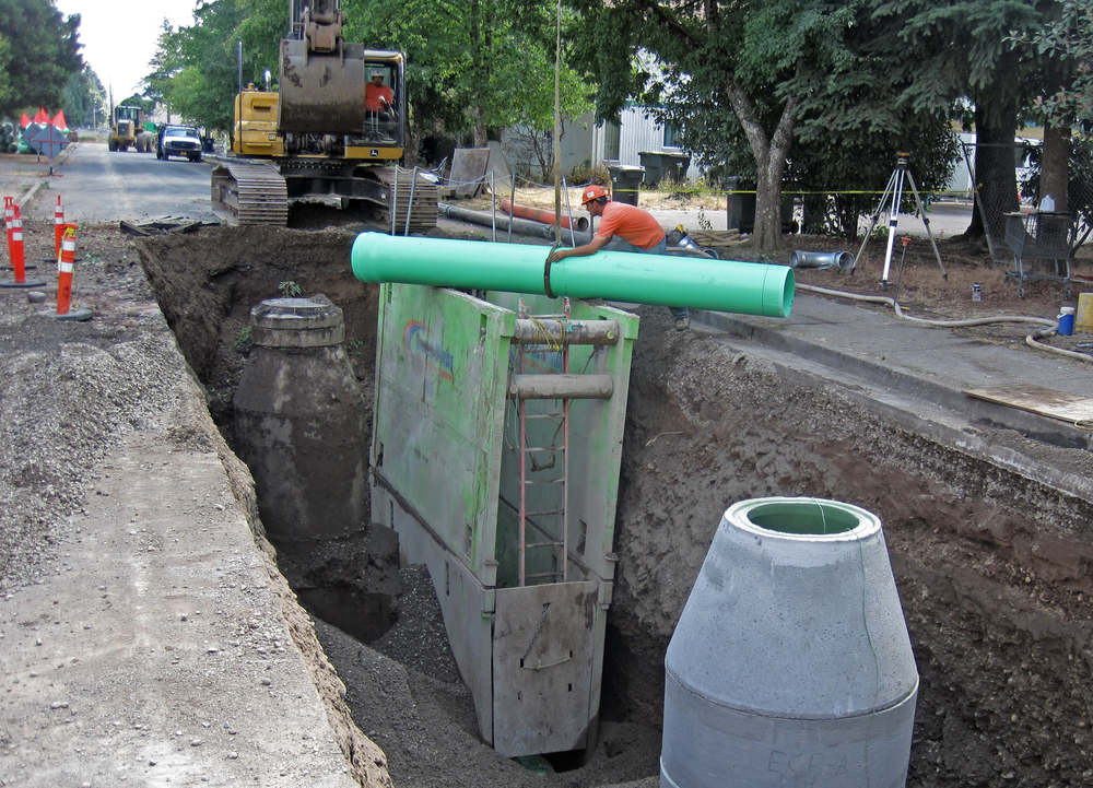 58th Street Relief Sanitary Sewer Line and Bypass Manhole | Springfield, Oregon