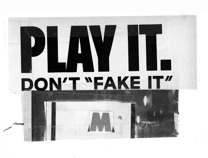 "Don't ""Fake It"""