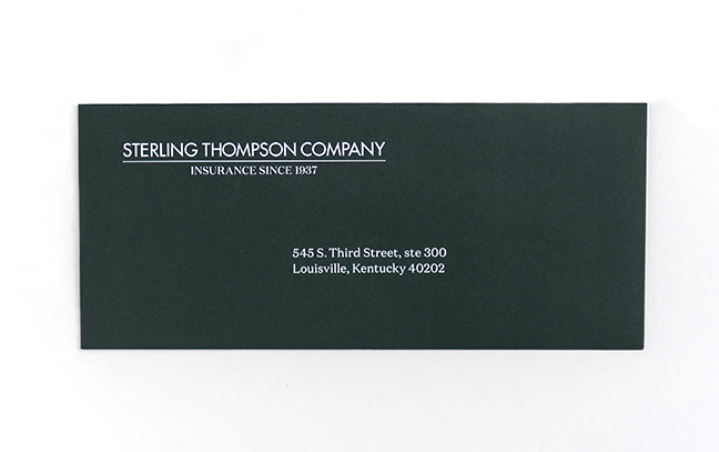Custom Green Return Envelope