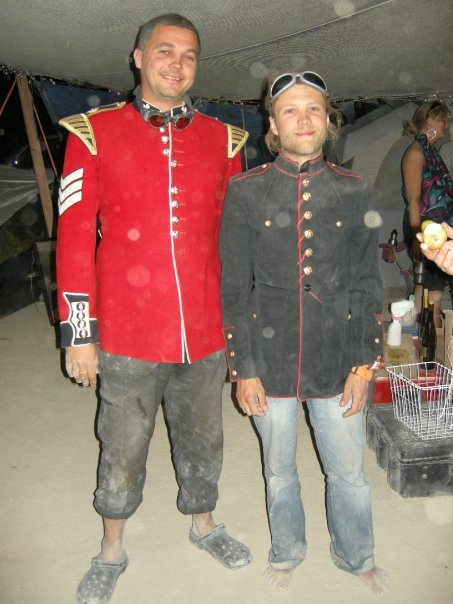Jon and his brother Rob at Burningman in about 2008.