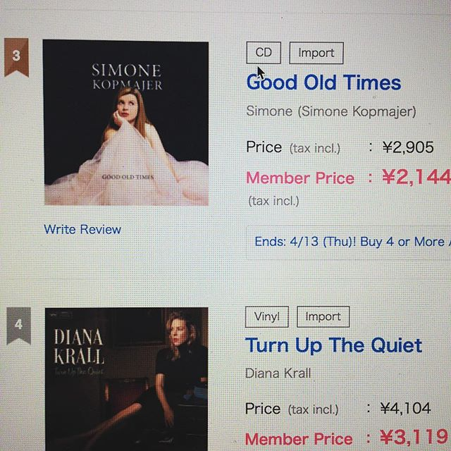 "The #newalbum ""Good Old Times"" is now available on #hmv #japan www.hmv.co.jp"