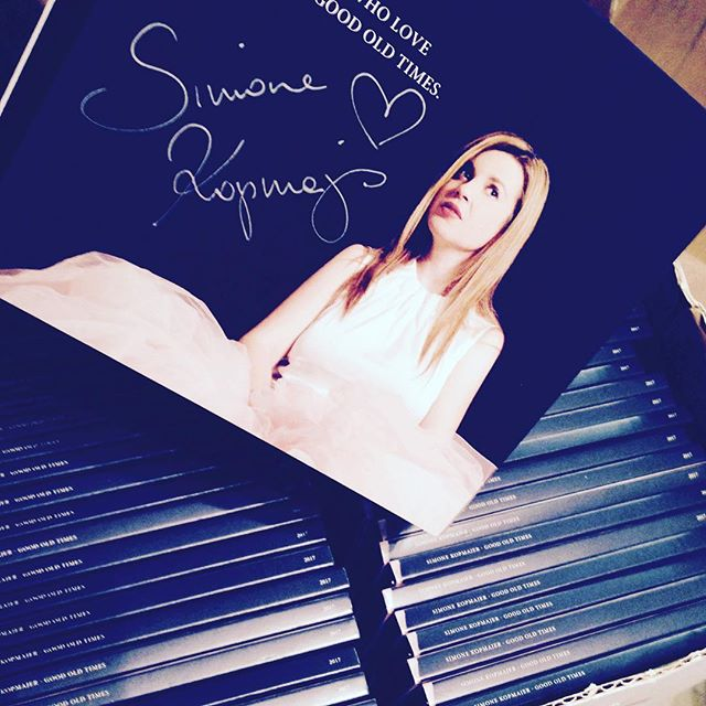 sending out hand-signed CD's #goodoldtimes #simonekopmajer