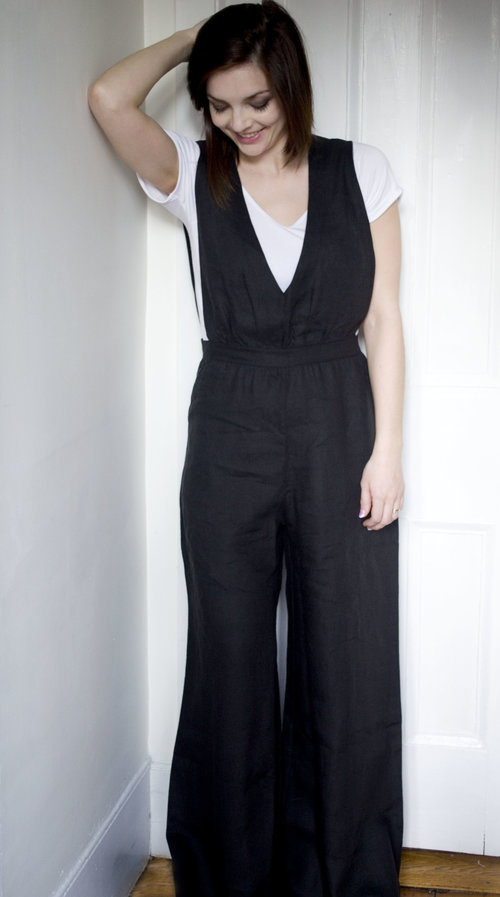 9307229755e Marcellamoda Black Linen Jumpsuit — Salt   LIght