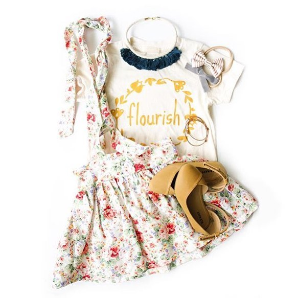 F L O U R I S H 🌿 sweetest flatlay put together by @flatlay.bazaar Thanks Lianne for including my tee! 💫