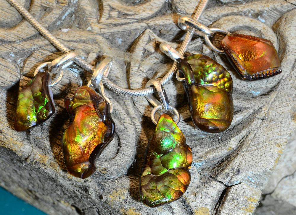 Fire Agate Pendants