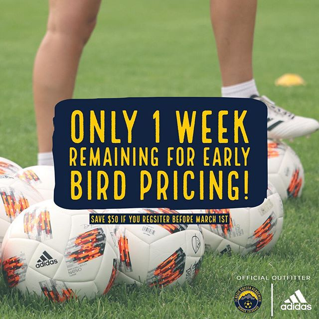 Register now to ensure your early bird pricing! Link in the bio! . . #RSA2019 . . ————— . #youthsoccer #soccer #football #adidas #youthfootball #soccertraining #skills #soccerlife #soccerskills #futbol  #regissoccer #tekkers #youthsports #regisrangers #training #soccercamp #soccermom #soccercoach #photooftheday #fifa #worldcup